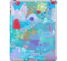 Original Acrylic Painting (Happy Magical Mushroom Forest) iPad Case/Skin