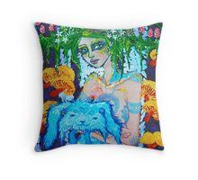Original Acrylic Painting (Lapien) Throw Pillow