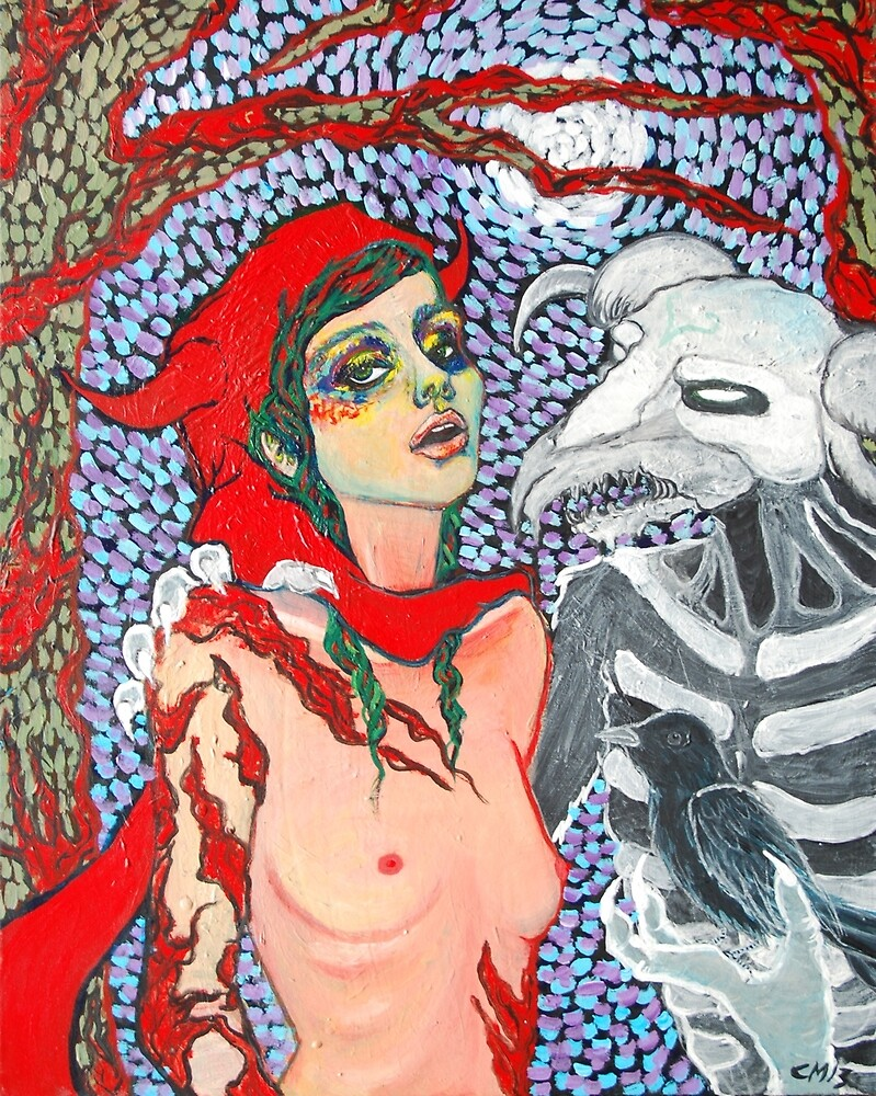 Original Acrylic Painting (Meeting With Aka Manah) by Christina Martine