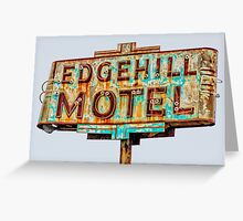 edgehill motel Greeting Card