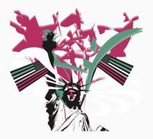American Flag- Abrosexual Pride Baby Tee