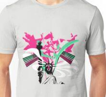American Flag- Abrosexual Pride Unisex T-Shirt
