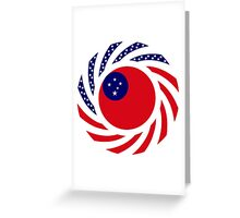 Samoan American Multinational Patriot Flag Series Greeting Card