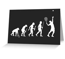 Evolution of Man and Tennis Greeting Card
