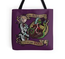 The Mind is the Key to the Heart (royal purple) Tote Bag