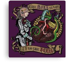 The Mind is the Key to the Heart (royal purple) Canvas Print