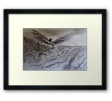 Girl in Flight Framed Print