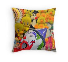 Coulrophobia rules, OK? Throw Pillow