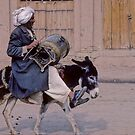 Is a precious donkey ridesAFGHANISTAN by yoshiaki nagashima