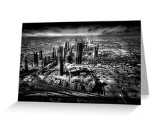 Sheikh Zayed Road - A Dubai View Greeting Card