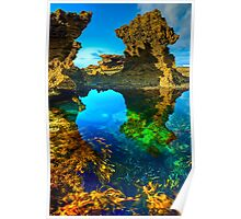 Morning at Sorrento Back Beach Poster