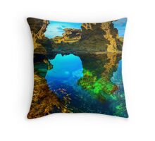 Morning at Sorrento Back Beach Throw Pillow