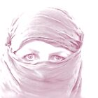 &quot;Purple Pashmina&quot; (self portrait) by Justine Walke