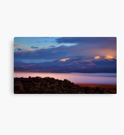 Palomino Valley Glow Fog Canvas Print