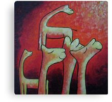 Loving Llamas Canvas Print