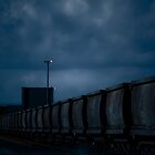 Coal train - Port of Brisbane by Damon Lancaster