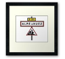 Alpe D'Huez Cycling Gradient Road Signs  Framed Print