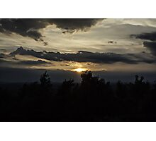 Local Mountain Sunset Photographic Print
