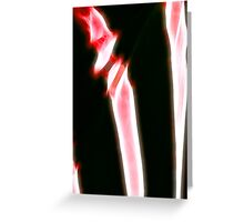 raw bones Greeting Card