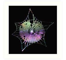 Rainbow Spider Web Art Print