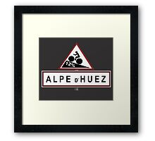 Alpe d'Huez Sign Mountain Cycling Tour de France Framed Print