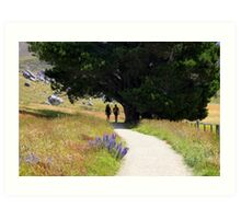 Walking To Castle Hill Art Print