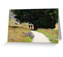 Walking To Castle Hill Greeting Card