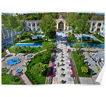 The Amazing Abbasi Hotel - Courtyard From Four Stories High  - Esfahan - Iran Poster