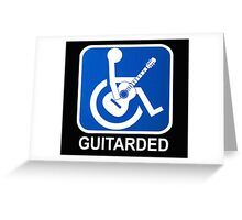 Guitarded Funny Guitar Design Greeting Card