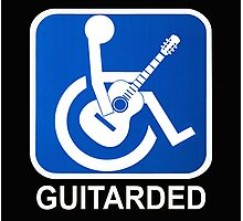 Guitarded Funny Guitar Design Photographic Print