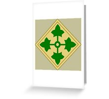 4th Infantry Division (United States) Greeting Card