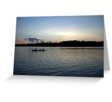 Sunset Canoe Greeting Card