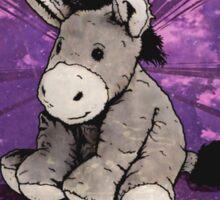 Stubborn Donkey Plush (yellow) Sticker