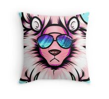 Summer Lion V1 Throw Pillow