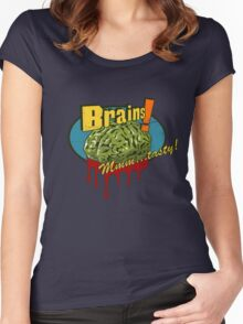 Brains. Women's Fitted Scoop T-Shirt