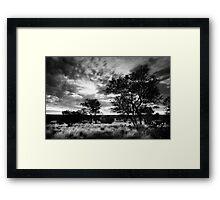 Outback Black Framed Print