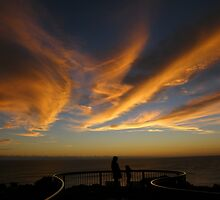 Southern Ocean Sunset - Tookalup Lookout, DÉntrecasteaux Drive by Wendy Eiby