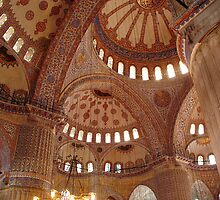 Inside the Blue Mosque by maureenclark
