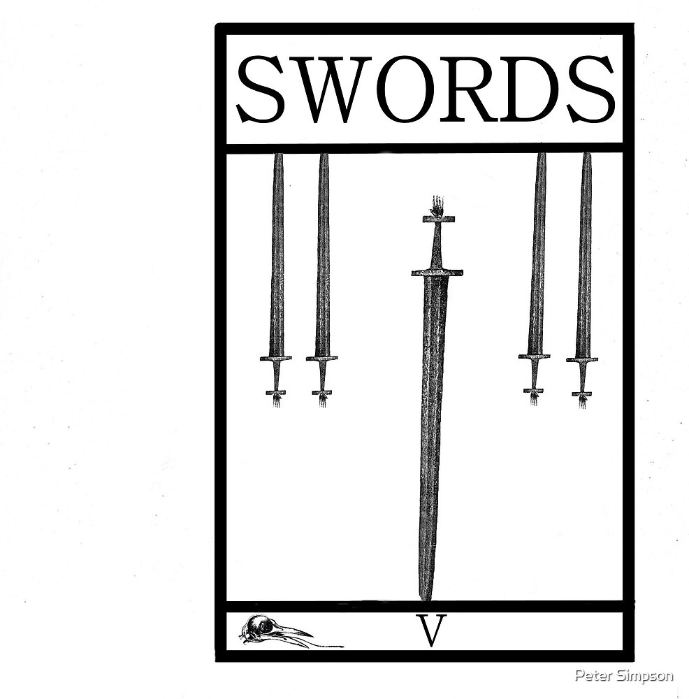 5 of Swords by Peter Simpson