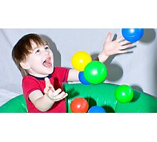 In The Ball Pool Photographic Print