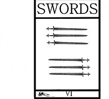 6 of Swords by Peter Simpson