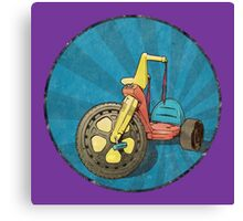 Big Wheel (purple) Canvas Print