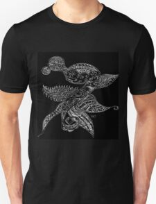 Black and White Sketch Abstract Dragon Unisex T-Shirt
