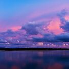 Sunrise on a stormy morning Noosa River - Panorama by Jaxybelle