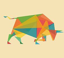 Fractal geometric bull by Budi Kwan