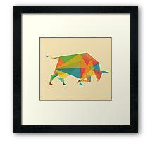 Fractal geometric bull Framed Print