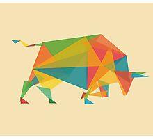 Fractal geometric bull Photographic Print