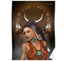 Spirit .. native indian Poster