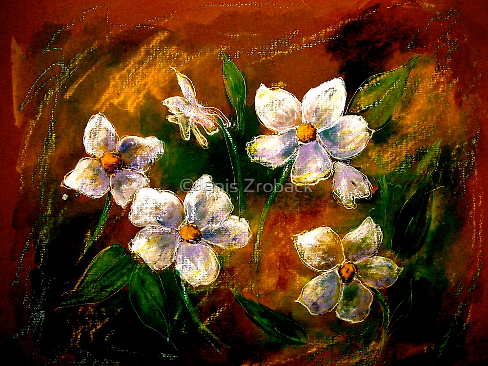 Drawing Day...Little Flowers by ©Janis Zroback