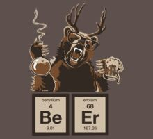 Chemistry bear discovered beer by NewSignCreation